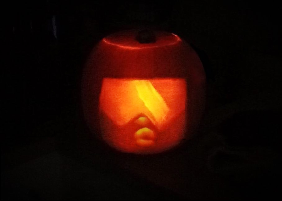 Found a strangely square pumpkin. Couldn't resist :D