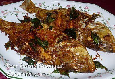 ikan goreng berempah resepi fish ikan seafood