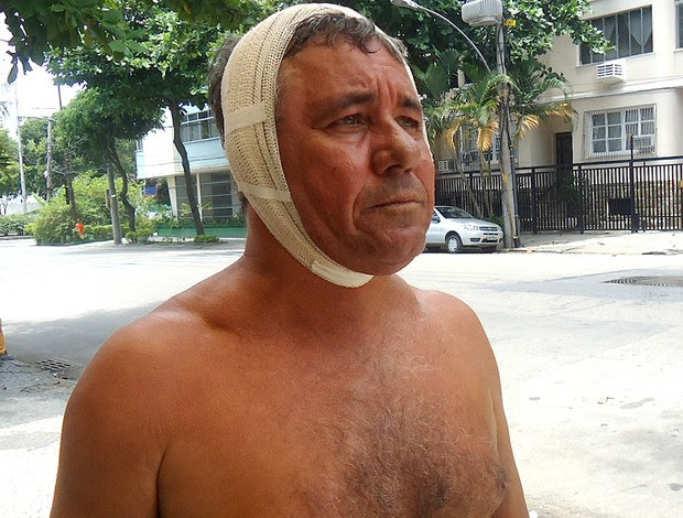 taxista ademilson Campos Ribeiro acidente paulo sérgio flamengo (Foto: Marcelo Baltar / Globoesporte.com)