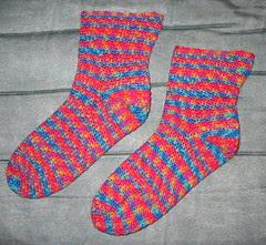 Mom's rainbow socks