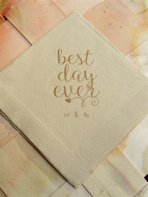 Personalized Best Day Ever Light Burlap Brown Rustic