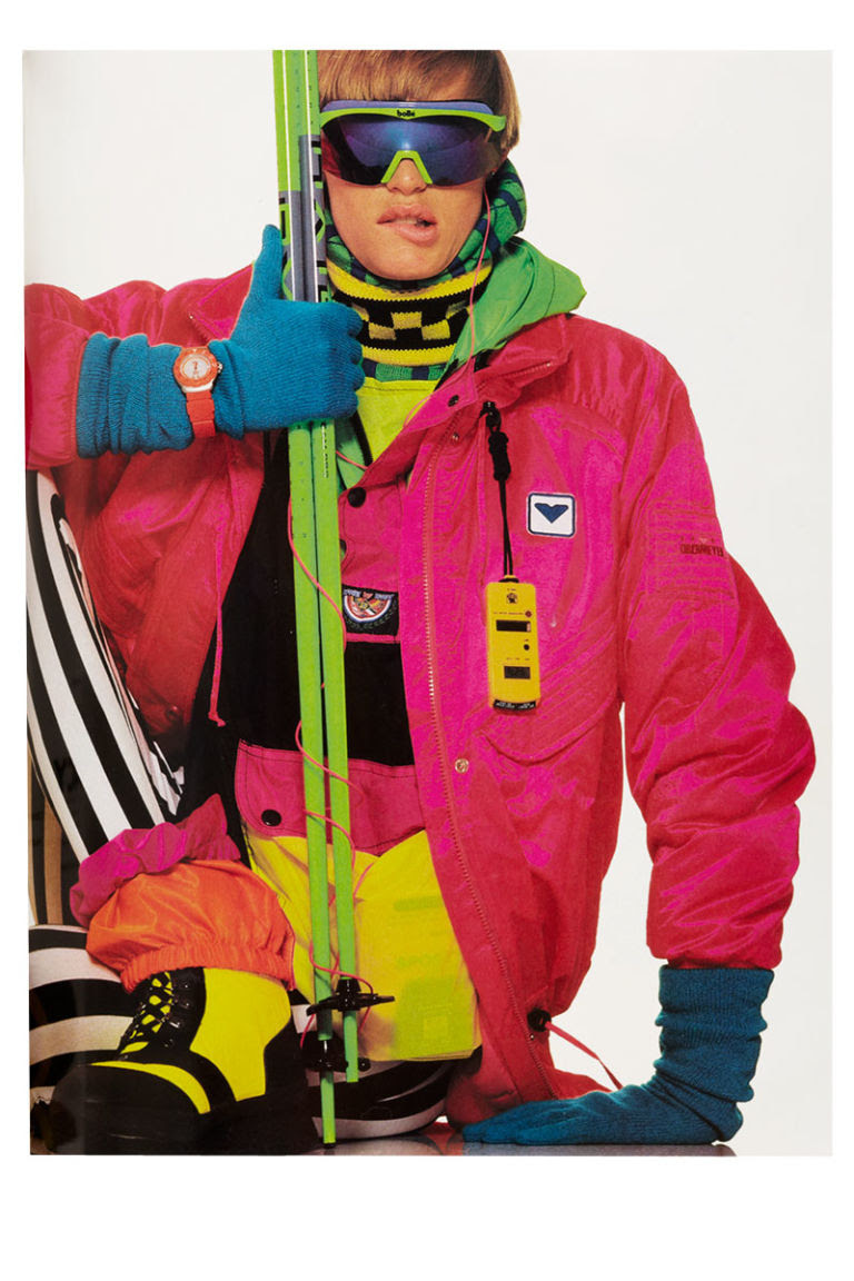 winter fashion trends  neon ski outfits