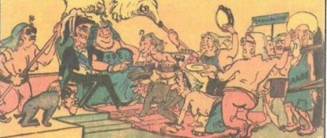 Σκίτσο του Φωκίωνα Δημητριάδη για τους αυλόδουλους πολιτικούς