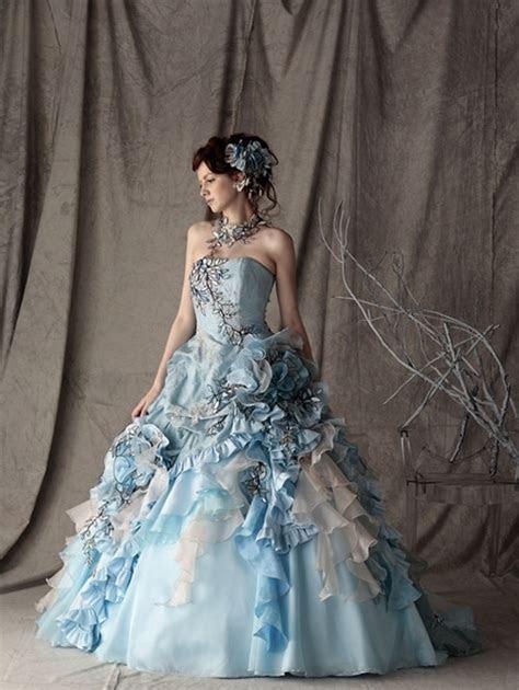Blue Wedding Dresses, Gothic Bridal, Alternative Bridal