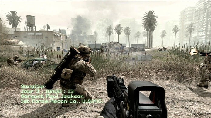 Call of Duty 4: Modern Warfare trouxe um estilo de guerra mais próximo da geração atual (Foto: Reprodução/YouTube) (Foto: Call of Duty 4: Modern Warfare trouxe um estilo de guerra mais próximo da geração atual (Foto: Reprodução/YouTube))