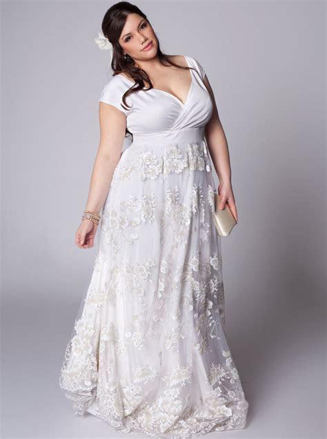 Plus Size Wedding Dresses with Sleeves   DressedUpGirl.com