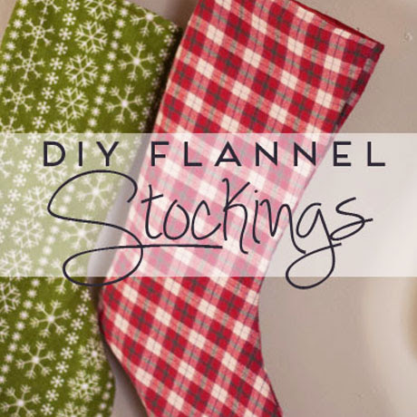 diy flannel stocking pattern tutorial