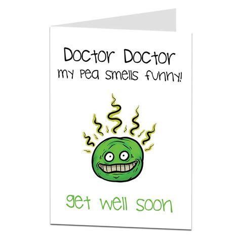 Funny Get Well Card Doctor Doctor   LimaLima Trade