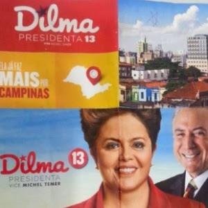 Panfletos da então candidata Dilma Rousseff (PT) que foram distribuídos pelos Correios em Minas Gerais