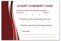 PCS-1091 - salon postcard flyer