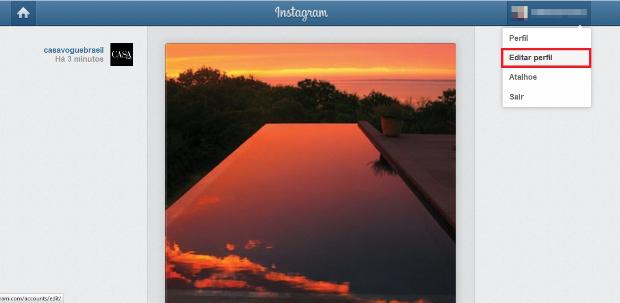 Timeline do Instagram na web (Foto: Reprodução/Lívia Dâmaso)