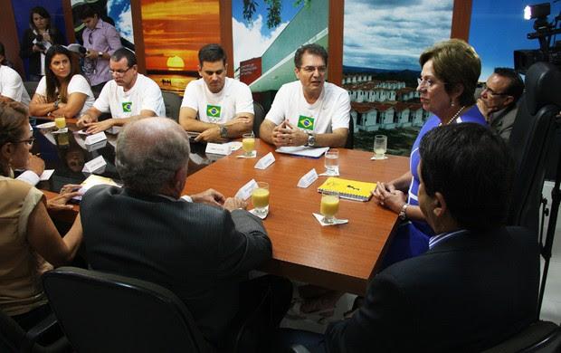 Comitiva do COB foi recebida pela governadora do Rio Grande do Norte, Rosalba Ciarlini (Foto: Ivanizio Ramos/Divulgação)