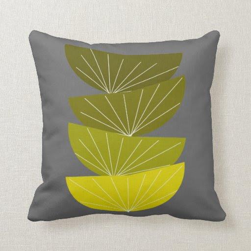 Mid-Century Modern Inspired Pillow #32 | Zazzle