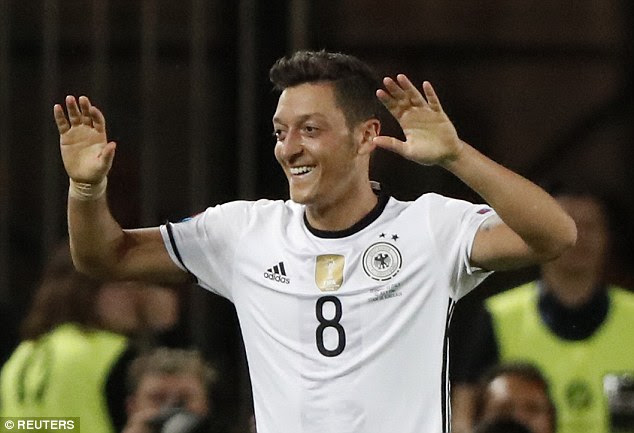 Mesut Ozil put Germany ahead in the 65th minute against Italy with a composed close range finish