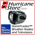 Weather Channel StormTracker crank-operated TV wit