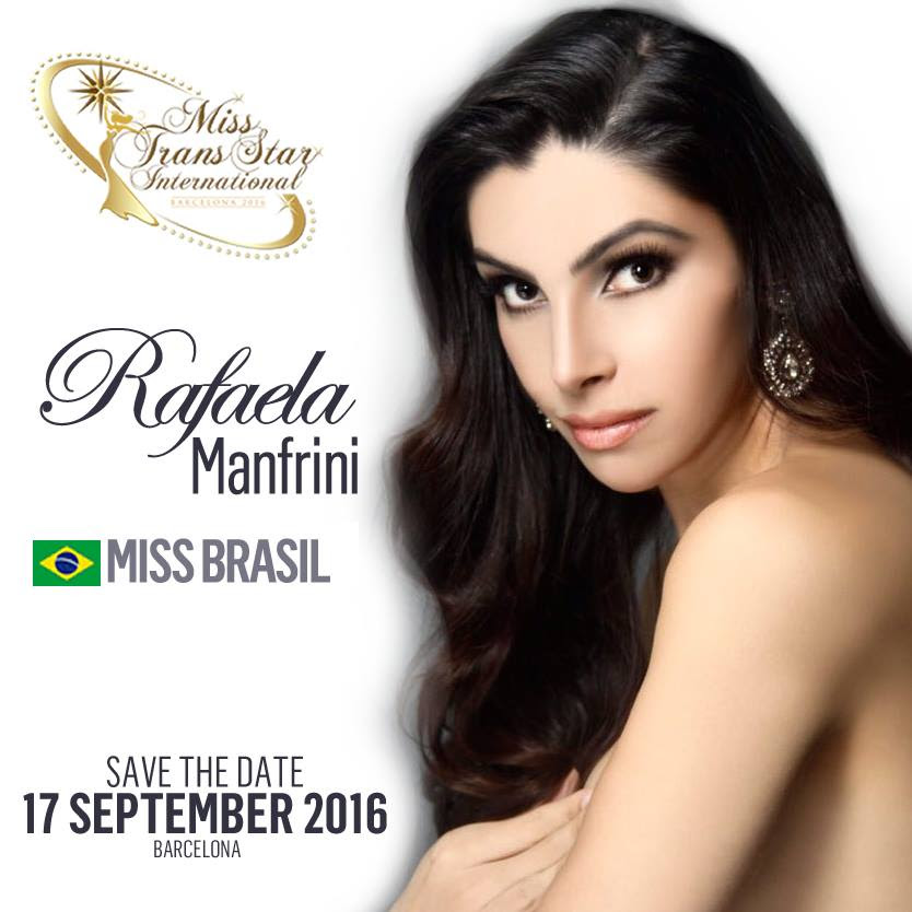 Image result for Miss Trans star international 2016 Rafaela Manfrini