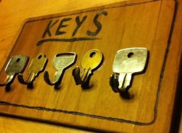 Como fazer artesanato com chaves velhas