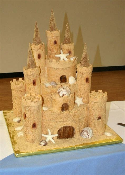 Best 25  Sand castle cakes ideas on Pinterest   Sandcastle