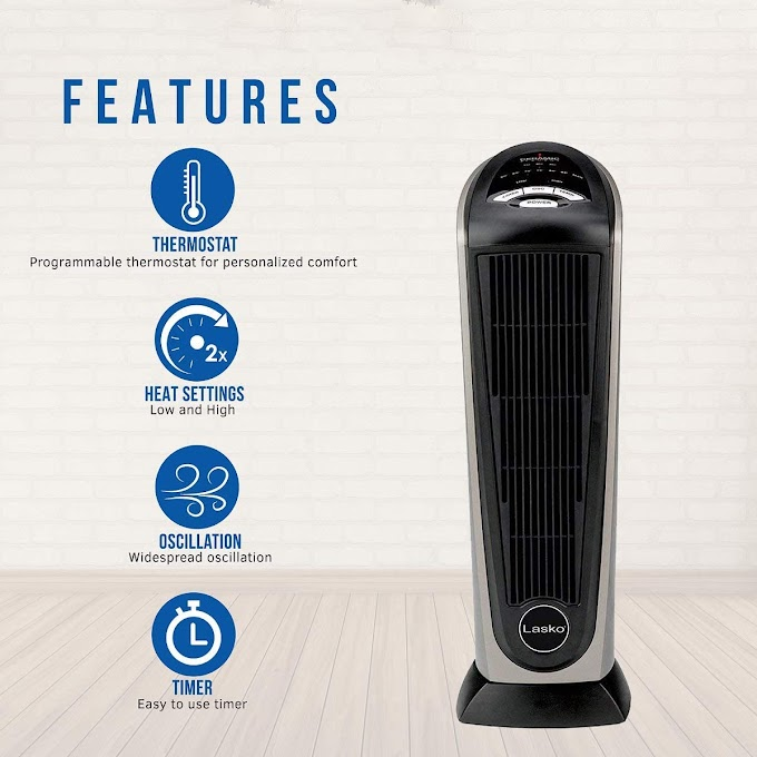 Lasko Ceramic Tower Space Heater with Remote Control