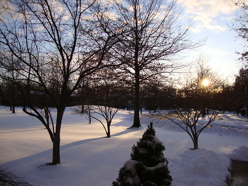 Sunset over snow 2/26/10