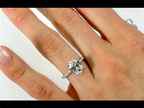 2.00 ct Oval Diamond Engagement Ring   YouTube
