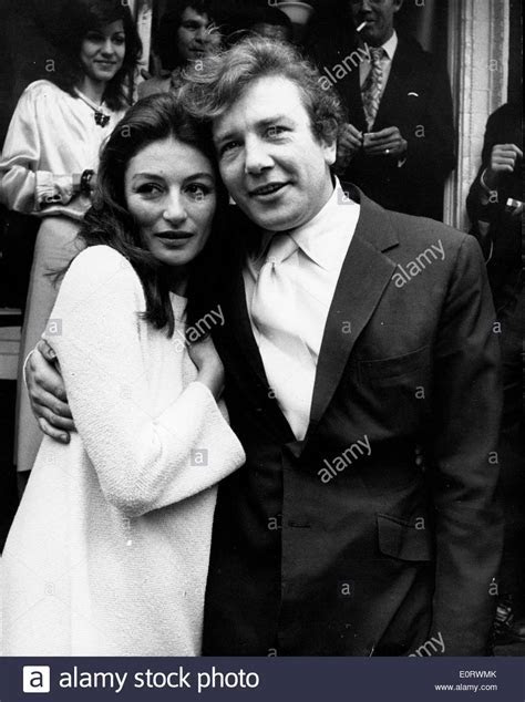 Actor Albert Finney marries Anouk Aimee Stock Photo