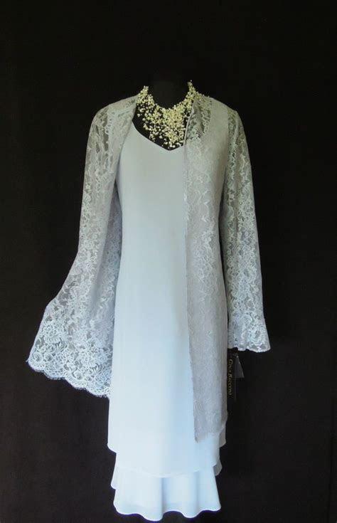 GINA BACCONI Pale Blue, Layered, Floaty Dress and Matching