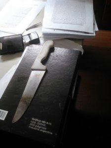 det amenazas cuchillo