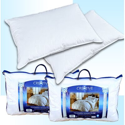 Creative Living Solutions 2 Bed Feather and Down Pillows