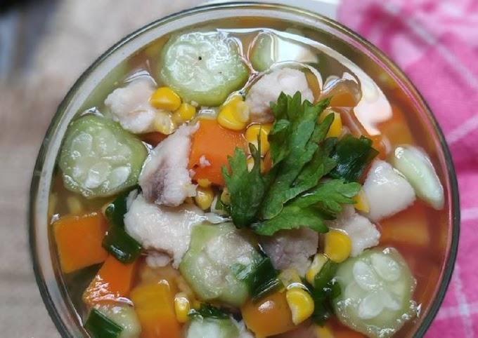 Cara Mudah Mempersiapkan Sup Oyong Ikan Dori Yang Enak