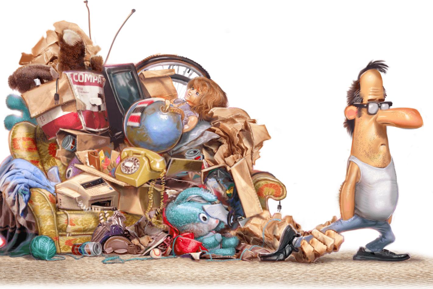 declutter illustration