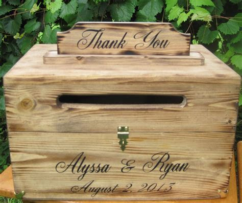 Wedding Rustic Card Box Country Chest Cards Thank You