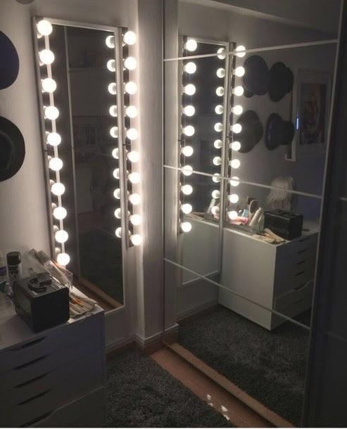 Home Accessory Illuminated Light Mirror Floor Mirror Hollywood