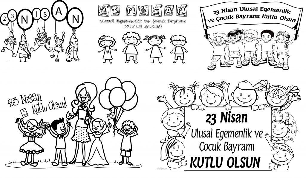 23 Nisan Ulusal Egemenlik Ve çocuk Bayramı Boyama Sayfaları
