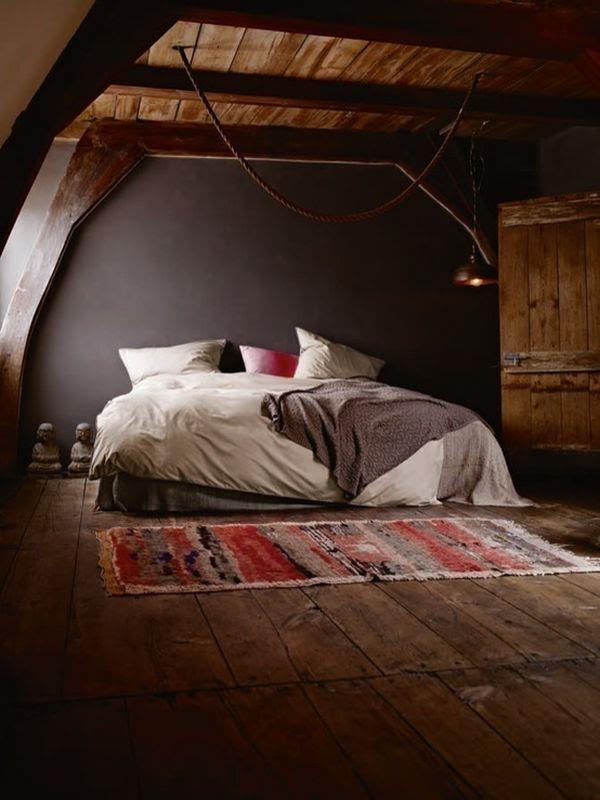 Dark  Moody Walls for a Cozy  Bedroom