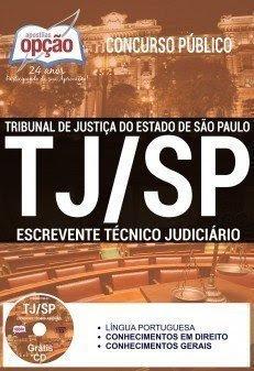 Apostila Tribunal de Justiça/SP 2015 - Escrevente - ESPECIFICA + CD GRÁTIS