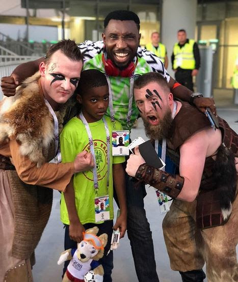 Timi Dakolo & Son mugged by vikings in Russia