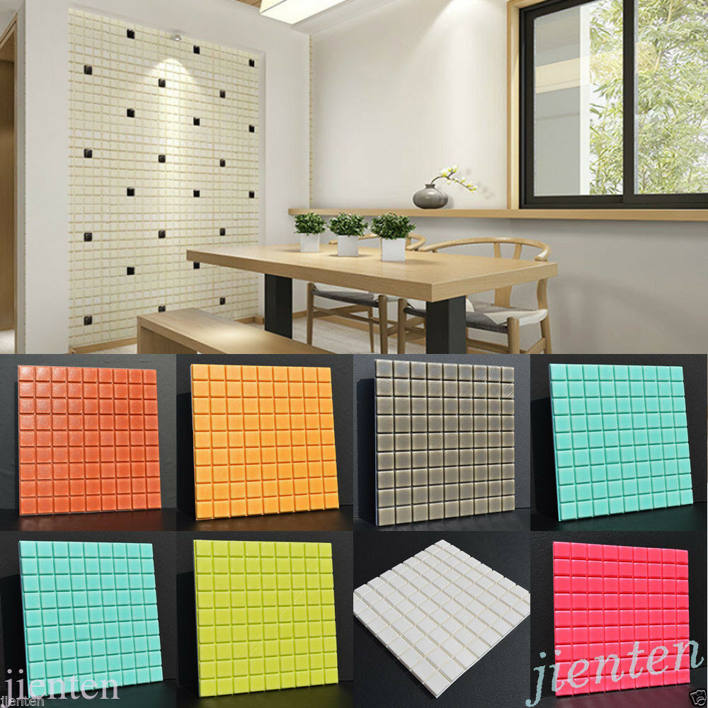 Self-adhesive Mosaic Wall Paper Sticker Tile Floor Kitchen ...