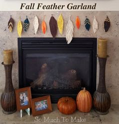 So Much To Make: Fall Feather Garland
