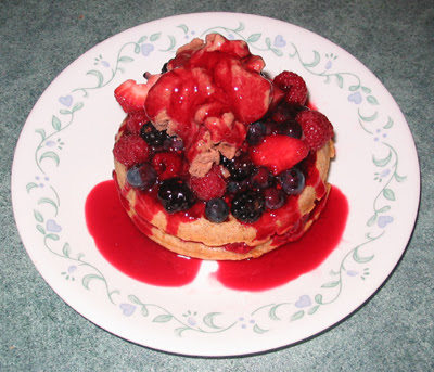 Chambord Coulis, Berries & Waffles