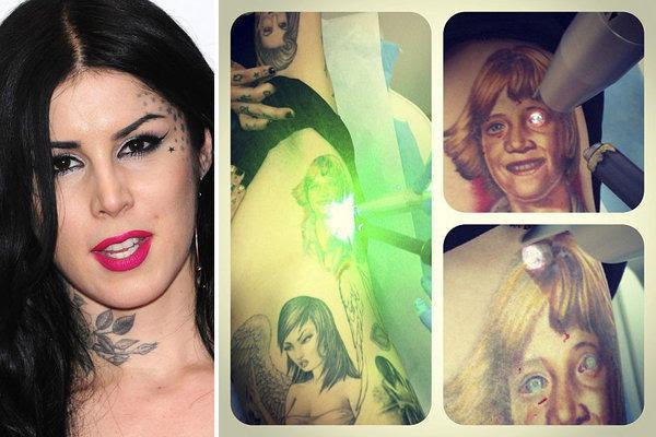 Kat Von D Removes Tattoo Of Jesse James Face Latimes