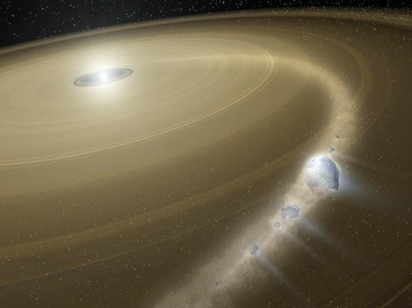 Comet 'Bites the Dust' Around Dead Star