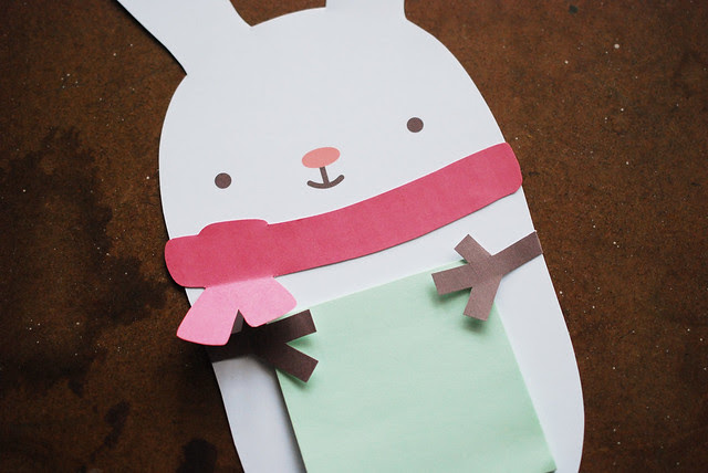 Snow Bunny Sticky Note Holder