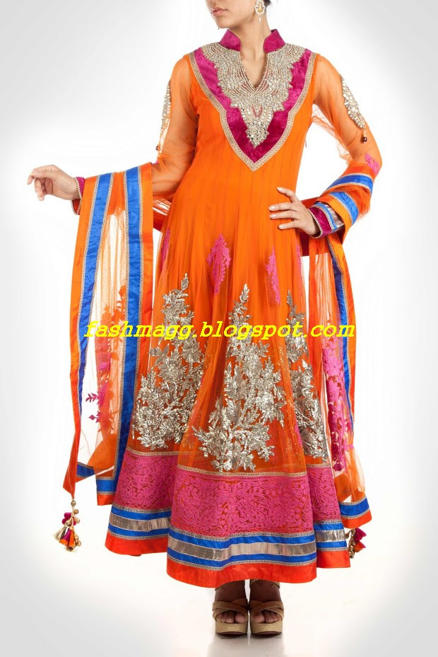 Amazing-Bridal-Wear-Indian-Fashionable-Dress-Designs-for-Cute-Girls-8