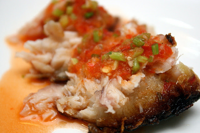 Smoked Golden Snapper with Sweet-Sour-Spicy Sauce