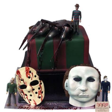 (2240) Horror Movie cake, Freddie, Jason, Mike Myers   ABC