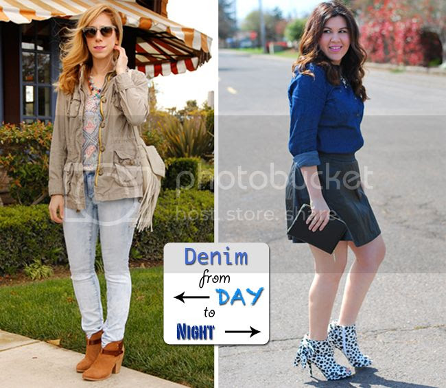 The Key To Chic and The Love Hanger show how to wear Target Style denim for day and night for Twin Tuesday