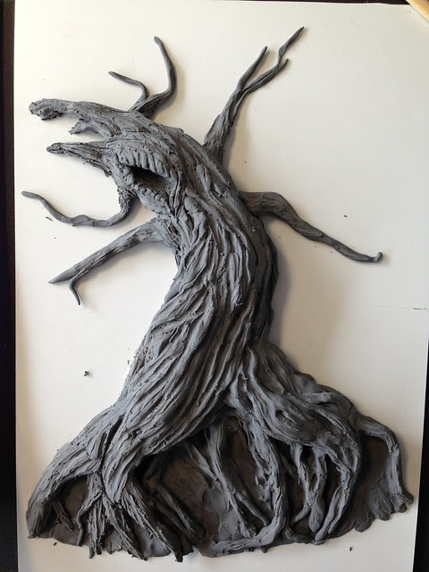 Tree of the Dead - plasticine mockup