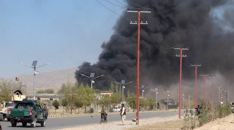 afghanistan attack, afghanistan army base attack, kandahar, kandahar army base attack, taliban attack, world news, indian express news