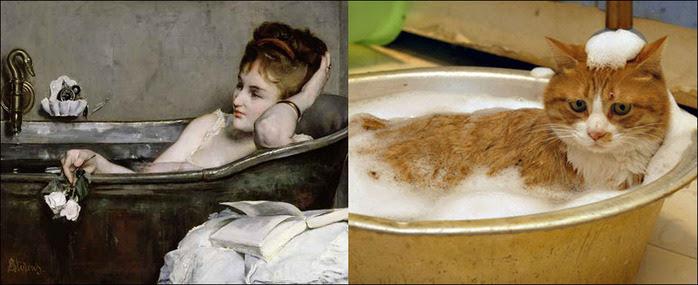 кошки в живописи 2 (700x285, 78Kb)